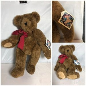 Vermont Teddy Bear Company Brown Jointed Plush Toy